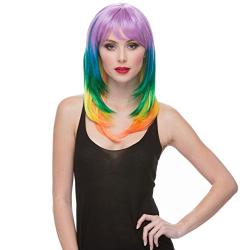 Sepia Costume Sherbert Synthetic Wig - Multi-Color