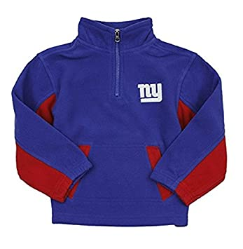 d2c55da92 Amazon.com   Outerstuff York Giants NFL Little Boys 1 4 Zip Micro Fleece  Sweater