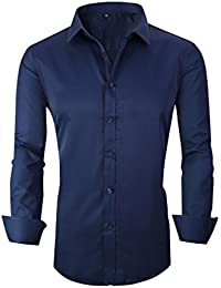 Taobian Mens Casual Business Slim Fit Button Down Dress Shirt Long Sleeve Shirts