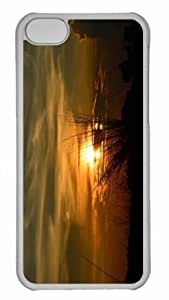 Customized iphone 5C PC Transparent Case - Sunset At Darakeswar River Personalized Cover