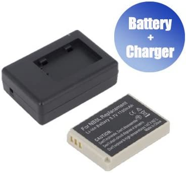 1100 mAh Charger Replacement for Canon NB-5L BattPit trade; New Digital Camera Battery