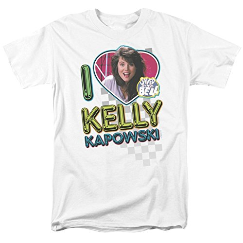 Saved By The Bell-I Love Kelly T-Shirt Size XL (Kelly Kapowski Saved By The Bell)