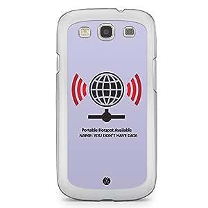 Designer Samsung Galaxy S3 Transparent Edge Case - Wifi Hotspot