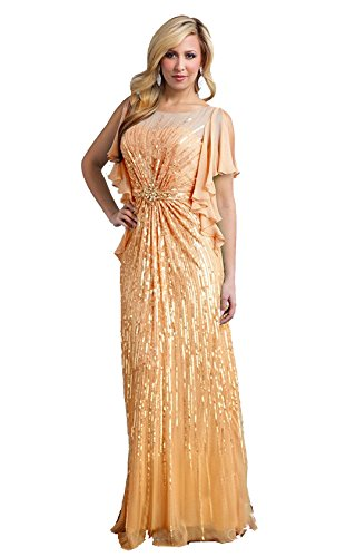 Terani Couture M1822 Women's Mother of The Bride Dress 12 Peach