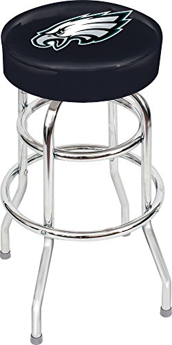 Chrome Seat Ring Bar Stool (Imperial Officially Licensed NFL Furniture: Swivel Seat Bar Stool, Philadelphia Eagles)