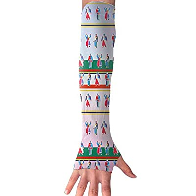 Red-green Human Unisex Half Finger Arm & Elbow High Compression Sleeve Breathable Riding Equipment Cycling