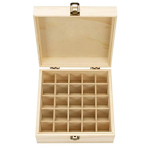 Essential Oils Outside Storage Box Wooden Box Essential Oil Storage Box Wood Box Oil Bottle 25 Compartment