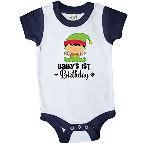 inktastic - 1st Birthday Christmas Infant Creeper 18 Months White and Navy 2dea8 (1st Creeper Infant Christmas)