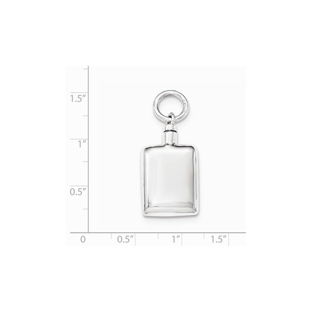 Sonia Jewels Sterling Silver Polished Rectangular Ash Holder Pendant