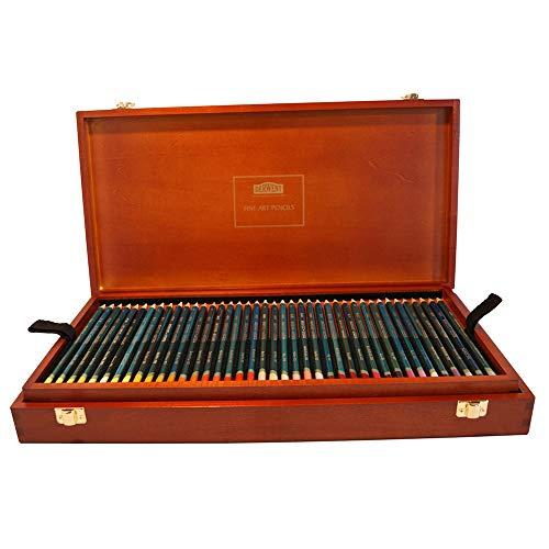 Derwent Artists Colored Pencils, 4mm Core, Wooden Box, 120 Count (32098) by Derwent (Image #1)
