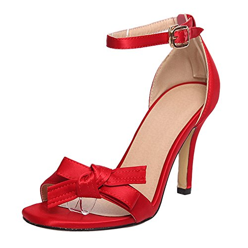 Coolcept Women Ankle Strap High Heels Sandals Red 1qSbt