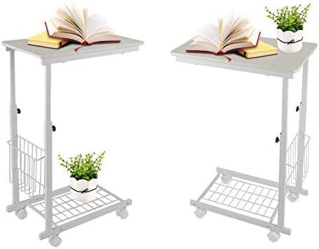 Nieuwste Collecties GWFVA salontafel, CShape consoletafel in hoogte verstelbaar nachtkastje bijzettafel sofa tafel theetafel met metalen frame wieltjes voor boeken, boeken, dranken, snacks telefoon  grlx1jf