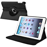 iPro Products Rotating 360 Degree PU Leather Case Cover for iPad 2/3/4 (FOR IPAD 2/3/4, 360 black)