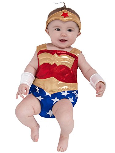 Princess Paradise Baby Girls' Newborn Wonder Woman, Red/White/Blue/Yellow, 0/3M