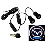 2 X SUNDELY® Car Door Led Laser Welcome Projector Logo Ghost Shadow Light for Mazda