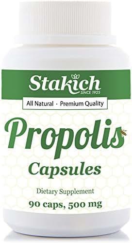 Stakich Propolis Capsules (500 MG) - Premium Quality, High Potency - (90 Capsules)