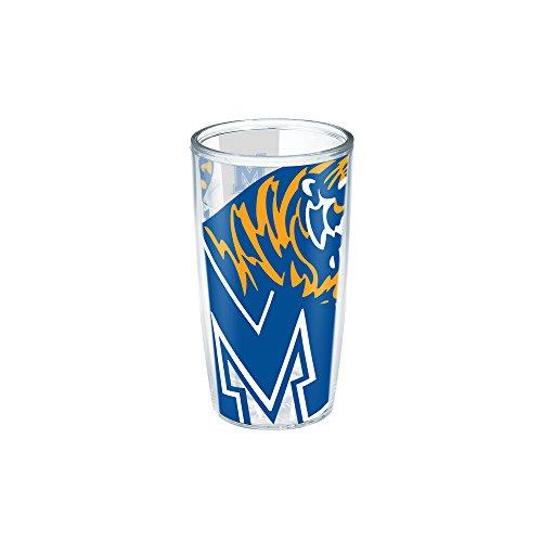 Tervis 1195924 Memphis University Colossal Wrap Individual Tumbler, 16 oz, Clear (Memphis 16 Ounce Tumbler)