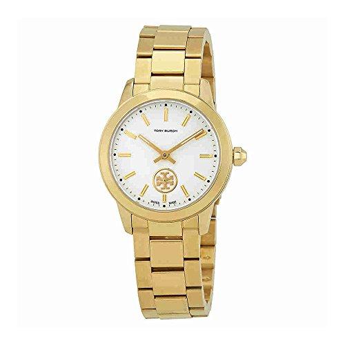 Cream Dial Bracelet Watch (Tory Burch Collins Cream Dial Yellow Gold-tone Ladies Watch TB1300)