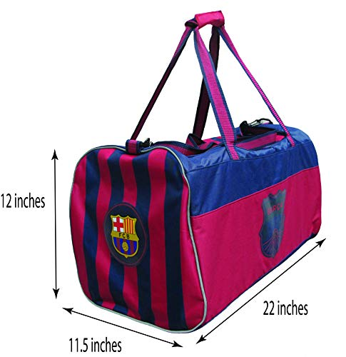 HKY Sportswear FC Barcelona Official Soccer Club Multi Use Travel Duffle Bag (Navy/RED, ONE Size)