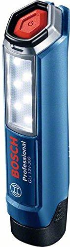 Bosch Professional Akku Lampe GLI 12V-300 (ohne Akku, 12 Volt System, im Karton) 06014A1000
