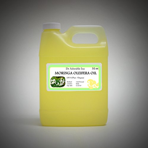 MORINGA OLEIFERA OIL BY DR.ADORABLE 100% PURE ORGANIC COLD PRESSED 32 oz/1 QUART