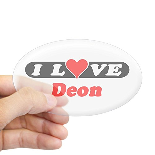 CafePress - I Love Deon Oval Sticker - Oval Bumper Sticker, Euro Oval Car Decal