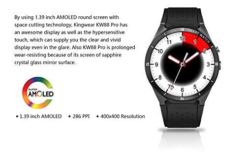 Amazon.com : WTGJZN KW88 Pro Smart Watch Men Android 7.1 ...