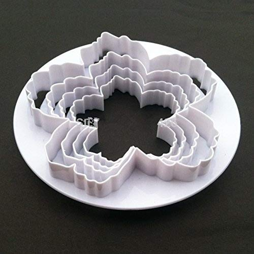 Bigger Peony Petals Cutter, 4pcs/set Gum Paste Flowers Cake Decorating Cutter Fondant Mold Sugar Tools
