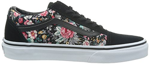 Old Skool U Vans floral black true Adulto Zapatillas multi Unisex qEfx5