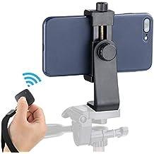 Ulanzi Cell Phone Tripod Adapter - Universal Phone Tripod Mount Attachment Any Size Smartphone - Includes Bonus Wireless Shutter Remote iPhone Samsung Huawei Xiaomi