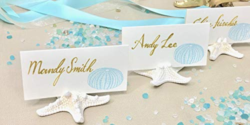 25 Natural Starfish Card Holders - They're Real! Beach or Coastal Weddings