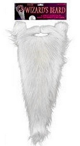 Forum Novelties Men's Novelty Wizard Beard, White, One Size