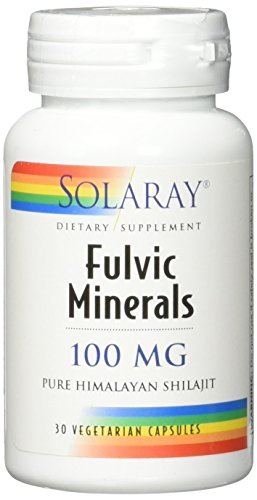 Solaray Fulvic Minerals 100 mg VCapsules, 30 Count