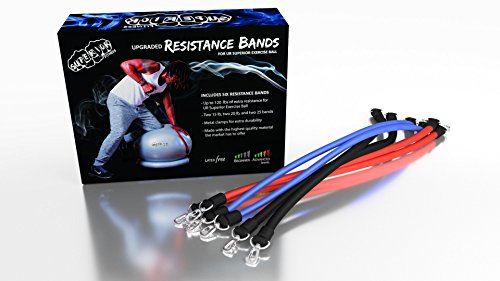 Superior Fitness Upgraded Workout Resistance Bands for Your 600 Lb Anti Burst Exercise Ball by UR Superior Fitness