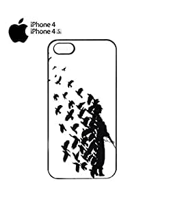 chen-shop design Banksy Soldier Peace Pigeons War Mobile Cell Phone Case Cover iPhone 4&4s White high quality