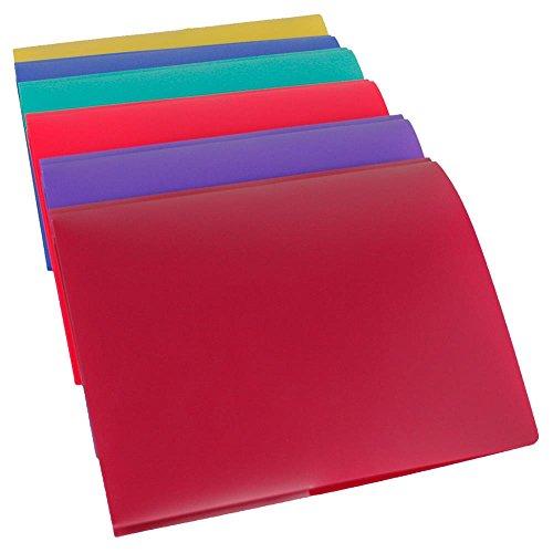 Lightahead Two Pocket Poly File Portfolio Folder With 3