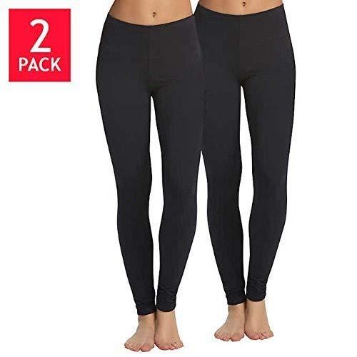 Felina | Velvety Soft Lightweight Leggings | Breathable & Moisture Wicking | Lounge Pants | Yoga Pants | Mid-Rise Waistband | 2 Pack -