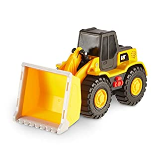 Cat Construction Tough Machines Toy Wheel Loader with Lights & Sounds, Yellow