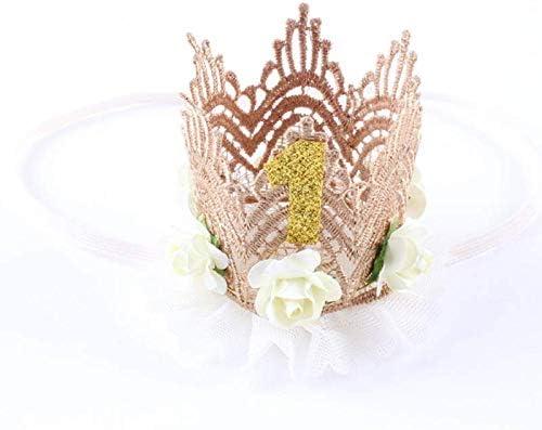 Amarillo Diadema de Corona Sombrero de Corona de Punto de beb/é XLKJ Corona de beb/é