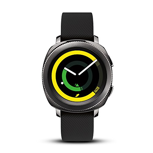 Samsung Gear Sport Smartwatch (Bluetooth), Black, SM-R600NZKAXAR - US Version with Warranty (Gear Fit Watch)