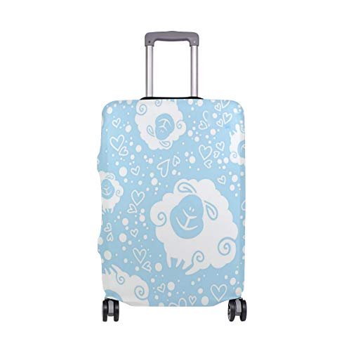Sheep Dress Head Traveler Lightweight Rotating Luggage Cover Can Carry With You Can Expand Travel Bag Trolley Rolling Luggage Cover