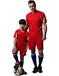 Daddy and me Soccer wear Football wear for Kids Boys' 2 Piece Parent-Child Clothes Set