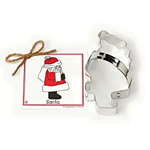 Santa Claus Cookie and Fondant Cutter - Ann Clark - 5.3 Inches - US Tin Plated Steel