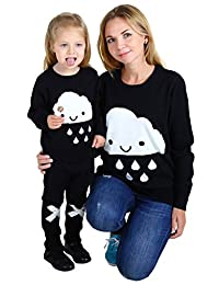 Wennikids Family Look Clothing for Mother/Daughter/Son Long-sleeve T-shirt Sweater