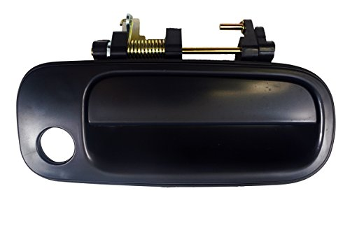 PT Auto Warehouse TO-3176S-FR - Outside Exterior Outer Door Handle, Smooth Black - Passenger Side Front