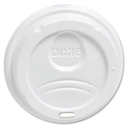 Drink Hot Cups Plastic Lids - DXE9538DXPK - Dixie WiseSize, Fits 8 Ounce Hot Drink Cups, White, 100 Lids