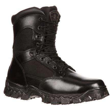 Rocky Men's Alpha Force 8 Inch Side Zip Steel Toe Work Boot,Black,11 M US