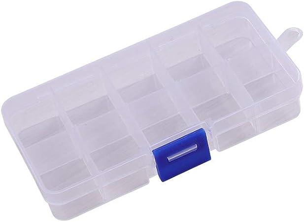 YaptheS Caja de plástico para Piezas de plástico Tornillo Organizador Envase Caja de Almacenamiento extraíble Divisor Ajustable Rejilla Compartimiento de Granos de la joyería Pendiente: Amazon.es: Hogar