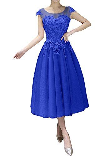 linie Wadenlang U ausschnitt Braut Royal Abendkleider Gruen La Partykleider Festlichkleider A mia Kurz Spitze Blau ZqFIwF8P
