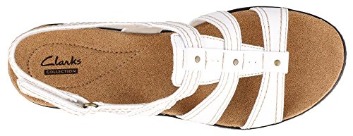 Sandalo Da Donna In Pelle Bianca Clarks Leisa Margherita 9.5-medium